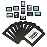 Magnetic Photo Picture Frames and Refrigerator Magnets, Pocket Frame for Refrigerator, White, Black, Holds 4x6 3.5x5 2.5x3.5 Inches Photos, 15 Pack (Black)