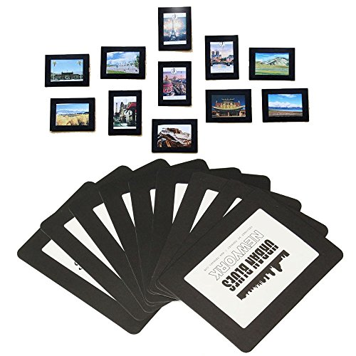 lausatek magnetic photo picture frames and refrigerator magnets pocket frame for refrigerator white black holds 4x6 35x5 25x35 inches photos