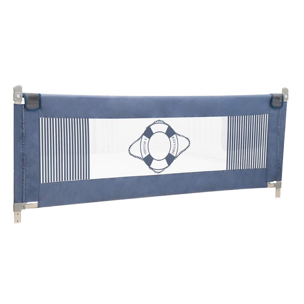 ベッドレール ベビーベッドレール、安全スリープベビーバンパー垂直リフト調節可能な秋の子供用ベッドサイドガードと洗えるカバー (サイズ さいず : 1.8m) 1.8m  B07L6FSMKR