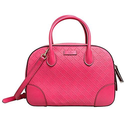 Gucci 354224 Fuchsia Bright Diamante Leather Women's Top Handle Bag
