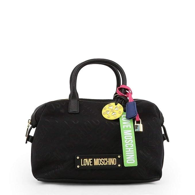 otra oportunidad bf84f 8934a Love Moschino Logo Jacquard Bolso de mano negro: Amazon.es ...