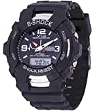 BLUE DIAMOND Analogue+ DIGITAL black dial watch for kids and boys
