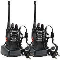 sholdnut Intercom Interphone Long Range Headset Headphone BaoFeng BF-888S 2 Watt Programmable Handheld Amateur Radio Black Speaker 2pcs Vests