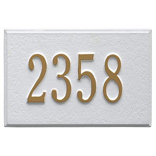 Whitehall Products 1426WG Wall Mailbox Plaque with One Li...