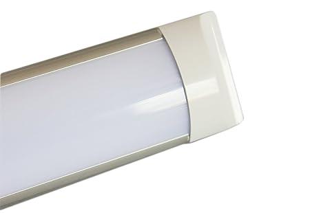 Plafoniere Per Lampade Al Neon : Plafoniera led 40w watt 120 cm slim smd macelleria 220v lampada