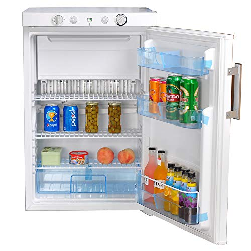 SMETA Gas Refrigerator Freezer Propane LP Compact 3-Way Fridge Cabin Camping Home Minibar Cooler