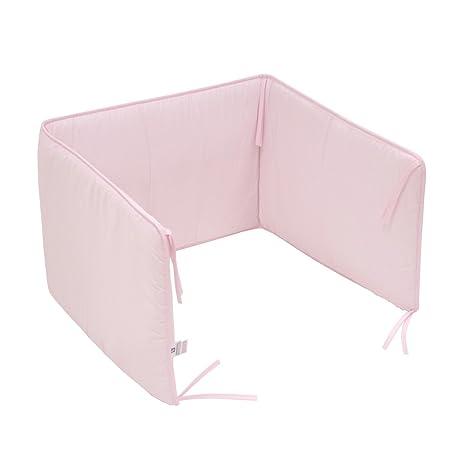 Cambrass Liso E - Protector de cuna, 60 x 40 cm, color rosa