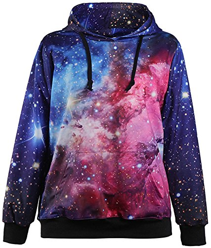 Pandolah Galaxy Colorful Patterns Print Athletic Hoodies Sweaters (S/M, LM1012-9) by Pandolah