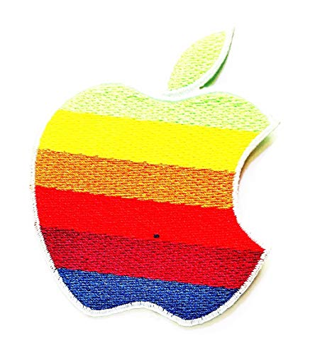 Nipitshop Patches Apple Fruit Rainbow Apples Patch for Cartoon Kids Patch Ideal for adorning Your Jeans Hats Bags Jackets Shirts or Gift Set