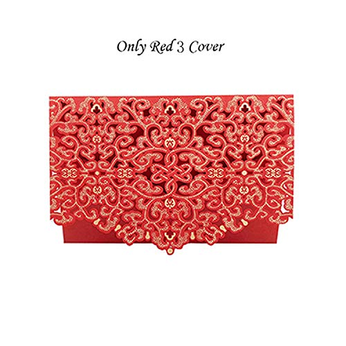 qiao-qiao-store 50pcs Blue Red Luxury Flora Cut Wedding Invitation Card Customized Wedding Envelopes Party Wedding Decoration Supplies-in Cards & Invitations from Home & Garden,Red 2 Cover from qiao-qiao-store