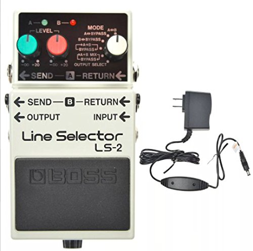 Boss LS-2 Line Selector and Boss PSA-120S2 Power Supply by BOSS
