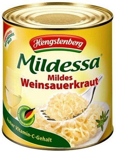 Mildessa Weinsauerkraut (Sauerkraut with Wine) - 28.6oz [Pack of 1] by Hengstenberg