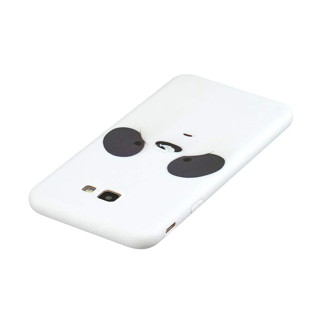 EuCase Funda para Samsung J4 Plus 2018 Silicona Dibujos Carcasa Samsung J4 Plus 2018 Antigolpes Suave TPU Flexible Goma Ultra Delgada Cubierta Protector Bumper Case para Caja Tapa Carcasa Oso