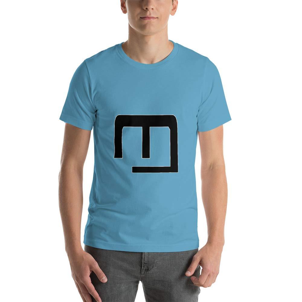 Moataz Monir Logo Design with Short Sleeve T-Shirt Ocean Blue