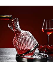 Wine decanter 360° rotating wine decanter set Crystal lead-free decanter set for wine lovers