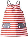 Mud Pie Baby-Girls Newborn Whale Dress, Red, 6-9 Months