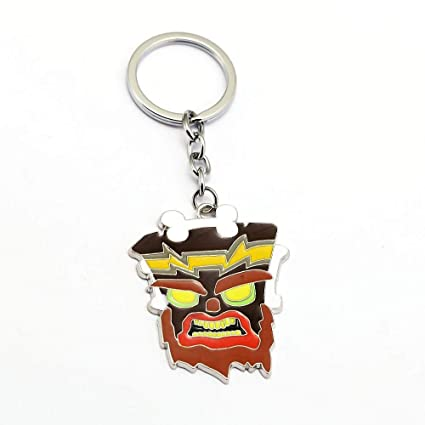 FITIONS - 4 Styles Crash Bandicoot Keychain Metal Pendants ...