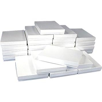 Amazoncom White Swirl Cotton Filled Jewelry Box 75 Pack of 10