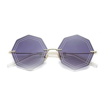 WX xin Net Red Moda Luz Polarizada Gafas De Sol Cara Redonda ...