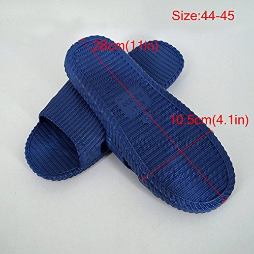 Salle Antidrapant Bleu Unisexe Bain Plage Maison Pantoufle Slip on De Meliya Sandales Douche Mules Chaussures Fonc x46wd5q6
