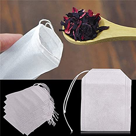 Amazon.com : 20Pcs-/pack Teabags 5.5 x 7CM Empty Scented Tea ...
