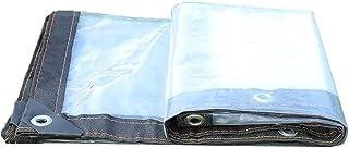HRFHLHY Tissu Anti-Pluie Bord épaissi perforé Transparent en Tissu imperméable en Plastique imperméable à l'eau, Couverture de Protection de Fleur de Balcon de fenêtre,3X5m