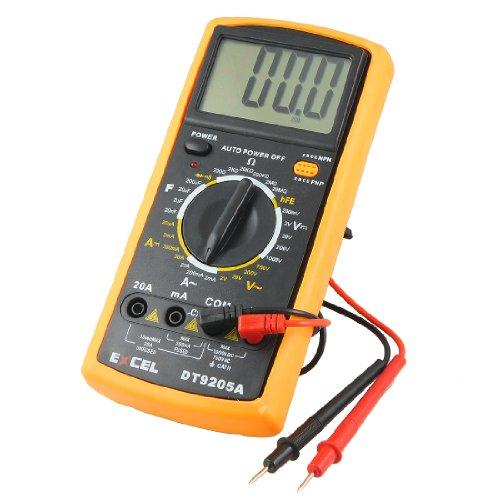 Plastic Volt Ampere Ohm Meter SD890D Digital Multimeter w Test Leads