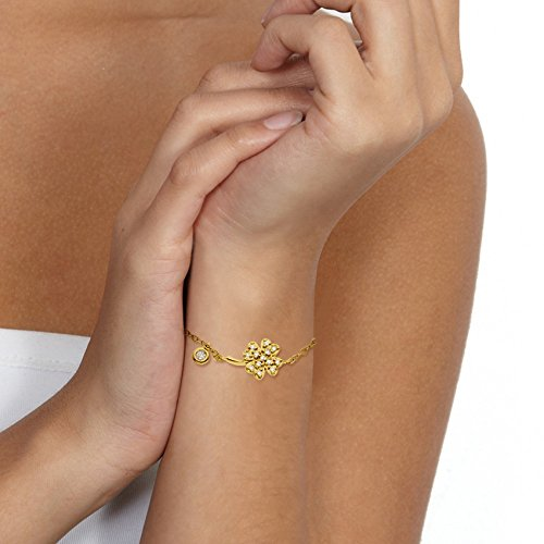 & You - Bracelet Chaîne - Or Jaune 18 cts - Vendôme - Diamant 0.08 cts - 18 cm - AM- BRAC CLOV 008 J