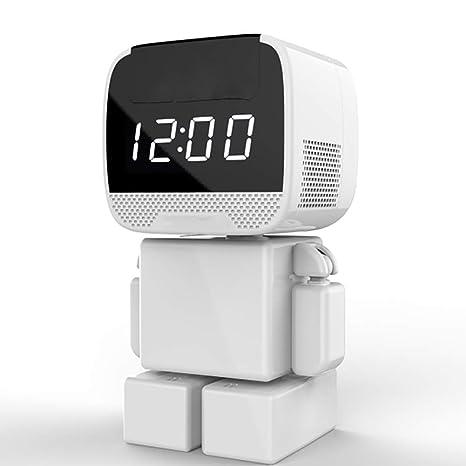 KEOA Reloj Oculto de cámara, 960P Portátil Inalámbrica Cámara Espía Vigilancia con Pantalla de Tiempo