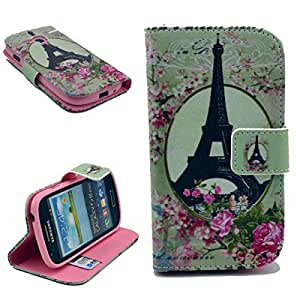 Dokpav® Samsung Galaxy S3 Mini (S iii Mini) i8190 Case,Ultra Slim Thin PU Leather Case Cover Flip For Samsung Galaxy S3 Mini (S iii Mini) i8190 With Interior Slip Pockets For Cards-tower