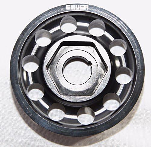 Silver Crank Pulley For 90-01 Integra B17A//B B18A//B B18C 93-97 Del Sol Si By OBX