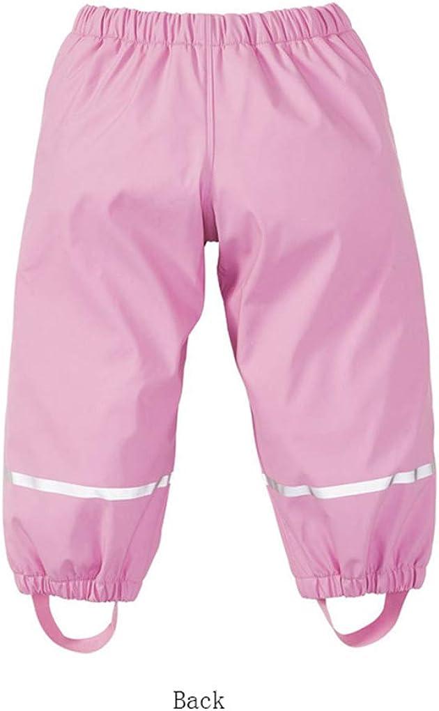 Gaga city Kinder Regenhose Gef/üttert Fleece Winddicht wasserdichte Hose Buddelhose Elastischer Bund 85-130 cm
