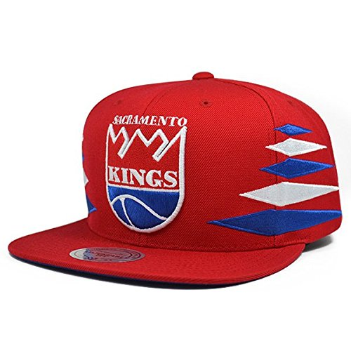Sacramento Kings DIAMOND Red SNAPBACK Mitchell & Ness NBA Hat