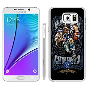 Durable High Quality Dallas Cowboys 01 White Samsung Galaxy Note5 Screen Phone Case