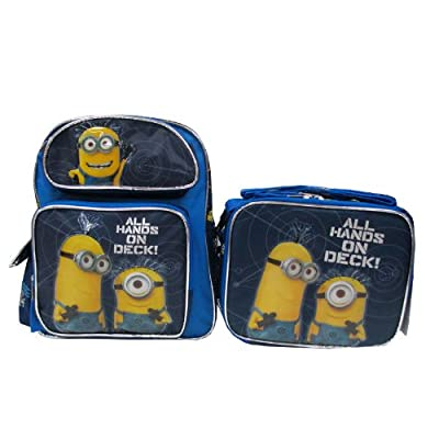 """Despicable Me 2 Minion 12"""" Backpack & Lunch Box - All Hands On Deck!"""