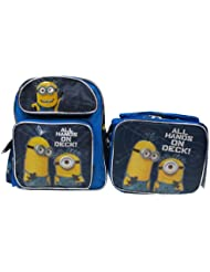 Despicable Me 2 Minion 12 Backpack & Lunch Box - All Hands On Deck!