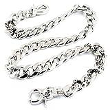 DoubleK Strong Skull Spike Key Jean Wallet Chain (27.5''/8.1oz) Silver CS119