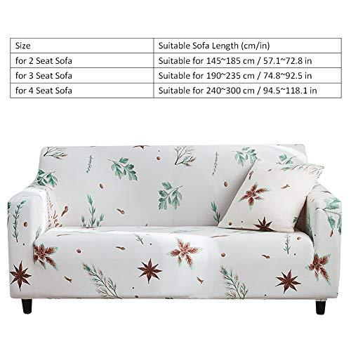 Yosooo Funda de sofá elástica, diseño de Hojas de árbol ...