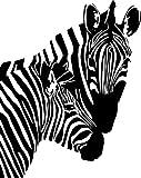 Pair of Zebra Style #1 Vinyl Wall Art Decal