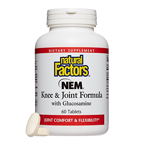 Natural Factors, NEM Knee & Joint Formula, Promotes Flexibility and Comfort with Glucosamine Sulfate and Hyaluronic Acid, 60 tablets (30 servings)