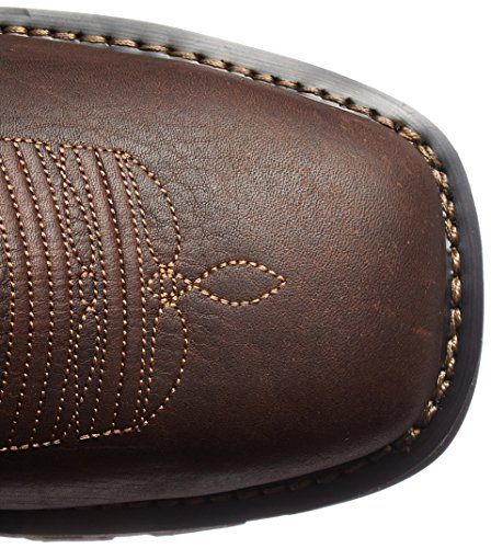 Stitched Brown Leather Industrial and Timberland PRO Square Unlined Upper Grain Boot Soft Construction Full Toe Men's Independence Embroidered qfPxag