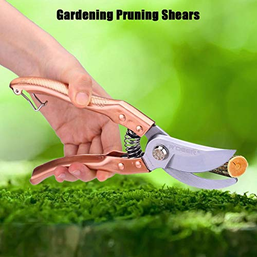 1 piece New 8 Inch Gold Manganese Steel Pruning Shears Cutter Home Gardening Plant Scissor Branch Pruner Hand Tool