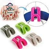 Hanger Hooks - NUOLUX Hanger Clips Mini Flocking Clothes Rack Holders-12Pcs (Random Color)