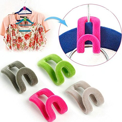 Tinksky Anti slip Flocking Clothes Holders
