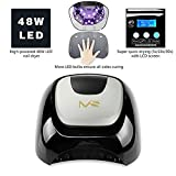MelodySusie® 48W LED Nail Dryer - Nail Lamp Quick Curing LED Nail Polish Professionally and Safely as Manicure Beauty Salon - With Timer Setting 5s/20s/30s - Classic Black