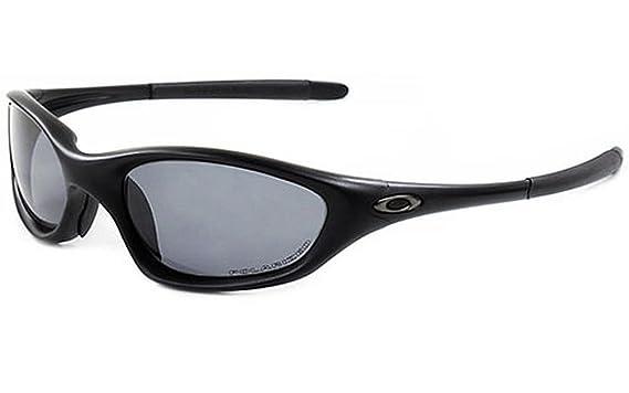 81be55a518 Amazon.com  Oakley SI XX Twenty Polarized Sunglasses Black  Grey 11 ...