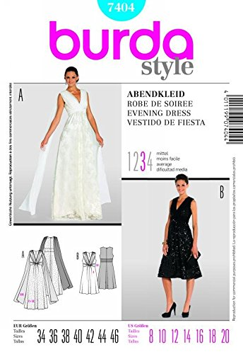 7404 evening dress burda pattern - 1