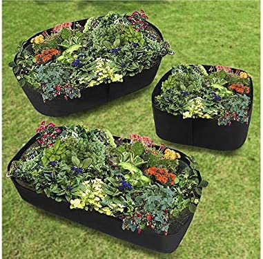 JIESD-Z Plant Raised Bed 38 Gallons Raised Gardening Bed Flower Planter Container Thickened Nonwoven Plant Fabric Pots for Potato Tomato