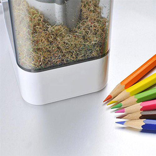 Keebgyy Automatic Durable and Portable Electric Pencil Sharpener, Auto-Stop Feature and Best Heavy Duty Helical Blade for Office School Artists Adults Kids A Plug Hole in Child Safety Use by Keebgyy (Image #5)
