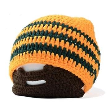 09fcf29dd13 Amazon.com   MONOMONO-Winter Knit Crochet Beard Beanie Mustache Face Mask  Ski Snow Warmer Hat Cap Knit   Beauty